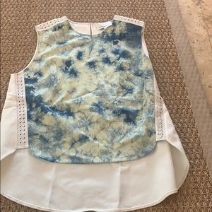 3.1 Phillip Lim high low tie dye blouse